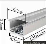 6332의 LED 알루미늄 채널 단면도 광원 힘 대