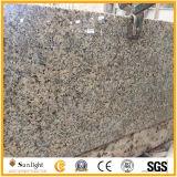 Encimera prefabricada de la cocina del granito del oro de Solarius de la tapa de la isla