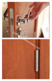 Acabamento de melamina madeira moderna e simples a porta com a decoração de alumínio