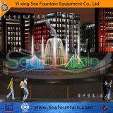 Fontana cambiante di musica della lampada di colore con la scultura