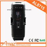 Gute Qualitätsim freien aktive Lautsprecher und gut beweglicher hölzerner Verstärker-Laufkatze-Lautsprecher