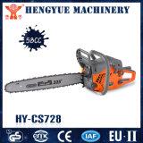 La benzina Hy-CS728 sega a catena le seghe di mano di 58cc 2200W