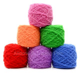 Пряжа Acrylic младенца бархата шерстей вычуры Knit вязания крючком руки Coral
