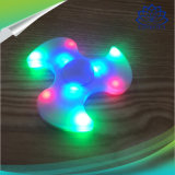 Hilandero sin hilos de la persona agitada del juguete del regalo del dedo del altavoz de Bluetooth de la venta caliente 2017 mini con el LED