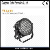 IP67 la etapa 72pcsx3w RGBW impermeabiliza la iluminación de la IGUALDAD del LED
