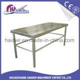 Carretilla del vector de trabajo de acero inoxidable del equipo de la cocina con el estante