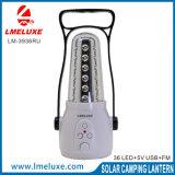 Indicatore luminoso di campeggio Rechargebale di emergenza radiofonica di FM e del USB