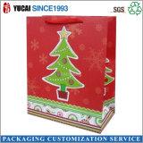 2016 Bolso de papel caliente de la Navidad de la venta para hacer compras