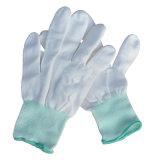 Перчатка PU Cleanroom Перст-Coated работая