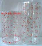 Plastikgefäß des kundenspezifischen Geschenks mit Drucken (Weihnachtsgeschenkkasten)