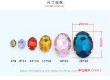 Toebehoren van het Bergkristal van het Glas van de Tegenhanger van het glas de Ovale voor Geparelde Halsband (sW-Ovaal 8*10mm)