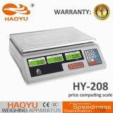 새로운 모형 백색 기본적인 전자 가격 가늠자 (HY-208)