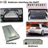 Auto-videoschnittstelle für Sitz 2014-2017 Volkswagen-Passat Golf7 Skoda usw. mit dem Mqb System, androider Navigations-Rückseite und dem Panorama 360 wahlweise freigestellt
