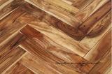 Suelo de madera Herringbone de la nuez sólida del acacia