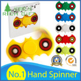 Factory Direct Hand Toy Fingertip / Finger Tri Gyroscope Fidget Spinner / Plastique / Métal / Roulement / Aluminium / LED Light / Ball / Gyro / Rainbow EDC Stress Hand Spinner