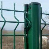 1.8m緑か黒いPVCは販売のための溶接された金網の塀のパネルを曲げる3ボルトに塗った