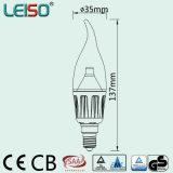 Exclusivo Chip CREE 4W E14 de la luz de velas LED Scob (LS-B304-CWWD/CWD)