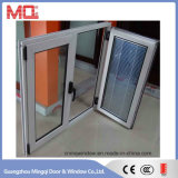 Ventana de aluminio revestida de la doble vidriera del polvo en China