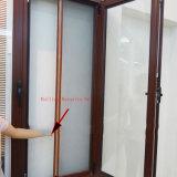 Import-Aluminiumflügelfenster-Fenster mit Plastikbildschirm-Ineinander greifen