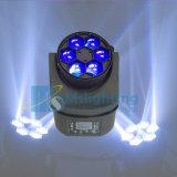 新しい到着6*12W RGBW 4in1 LEDの目LEDの移動ヘッドビームライト