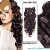 Clip di Remy dell'essere umano dell'indiano 100% dell'onda del corpo sull'estensione dei capelli