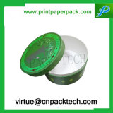 Cadre de papier de modèle de forme ronde de carton de bijou neuf fait sur commande de cadeau avec l'impression de logo