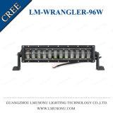 Pulgada recta IP67 del CREE 6000K 96W 17 de la barra ligera del Wrangler LED para el jeep