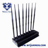 Potente ajustable de 8 bandas 3G 4G móvil WiFi GPS Lojack Jammer