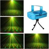 Equipamento de DJ no interior de eficácia especial Star Estágio de Natal a luz do laser
