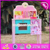 Novo Design fingir desempenhar Rosa Cozinha Meninas brinquedos de madeira W10C150