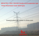 Doppio tipo torretta della trasmissione (tipo della sospensione del circuito di Megatro 110kv 1d8-Szk di RCS)