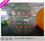 Bola de parachoques inflable roja de Zorb, bola inflable de Zorb para la promoción