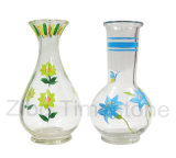 Vaso di vetro dipinto a mano (TM253D)