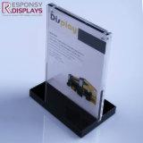 Estante de visualización de acrílico superior contrario del folleto del sostenedor de la visualización de la tarjeta del cartel