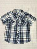 スクエア6244子供の衣服の2017の方法男の子のワイシャツ