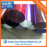 Hoja rígida chispeada laminada coloreada del PVC para el abrigo del tambor
