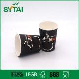 Wegwerffirmenzeichen gedruckte PET überzogene einzelne Wand-Papier-Papier-Kaffeetasse