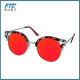 Lunettes de soleil de plot réflectorisé de femmes de lunettes de soleil de qualité