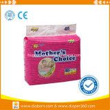 Fabricante disponible suavemente no tejido e importado del pañal del bebé de la savia