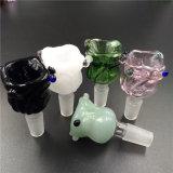 tazón de fuente de cristal de 14mm/18m m para los tubos de cristal del vidrio del tubo que fuma