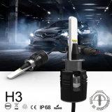B6 faro dell'automobile H3 LED con migliore qualità della turbina 24W 3600lm
