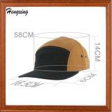 5つのパネルの平らな縁のスケートの軍隊の帽子のバイザーの帽子