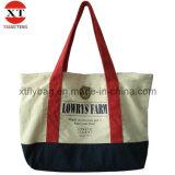 Commercio all'ingrosso promozionale del sacchetto delle donne del Tote della tela di canapa di svago