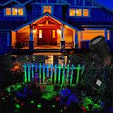 Iluminação verde e azul da luz de Natal do laser do Firefly - da cor da paisagem