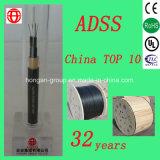 ADSS 8 Núcleo de doble vaina no armado todo el dieléctrico autoportante de tubo suelto de cable de fibra óptica de China
