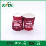 Tazza calda del Tripple della parete di alta qualità della tazza di carta di Flexo di stampa della lettera della tazza bianca a gettare rossa della bevanda