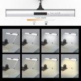 """Bride de lampe de bureau d'architecte de bras d'oscillation de DEL, lampe de Tableau de contact pour l'argent fonctionnant du relevé 2 """"copies claire"""", 4-Level Dimmable"""