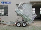 ATM 2t의 8X5ft 5 단계 Hydraulic Tipper Trailer