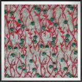 テュルの刺繍のレースポリエステル刺繍のレースの花によって刺繍されるレース