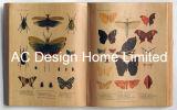 Бабочка фиолетового цвета кожи/MDF деревянной книги форма искусства на стене